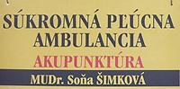 Súkromná ambulancia pre akupunktúru, pľúcne choroby a odvykanie fajčenia - MUDr. Soňa Šimková